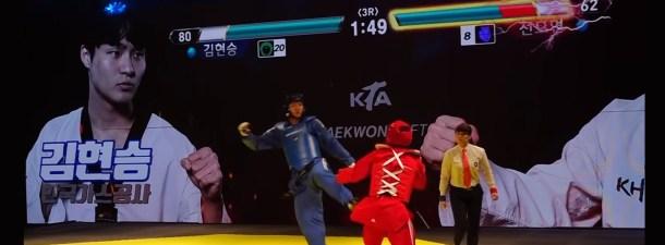 Corea utiliza las barras de energía de los videojuegos para hacer el Taekwondo más divertido