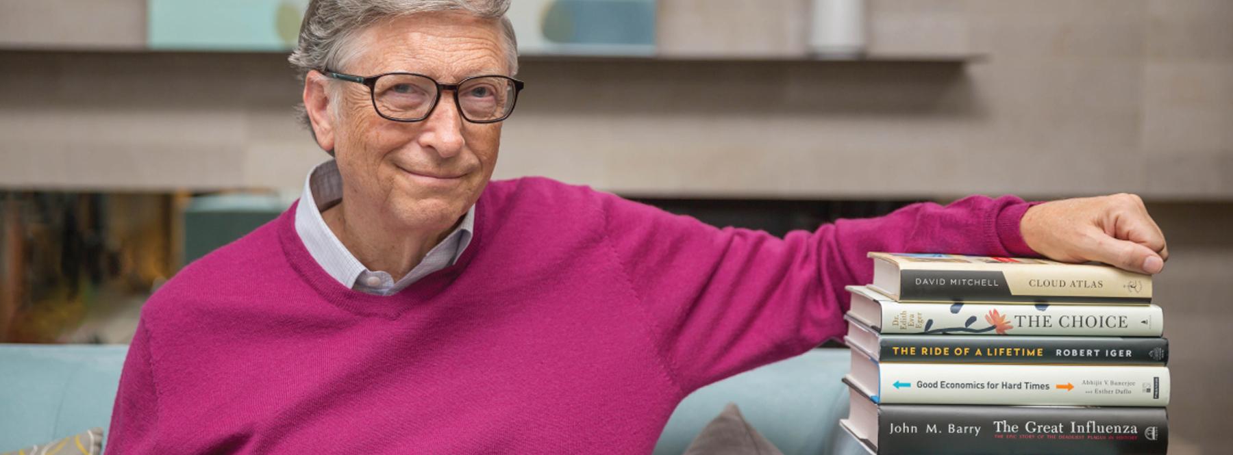Cinco libros que recomienda Bill Gates para este verano