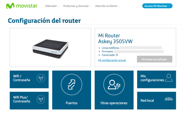 Portal Alejandra Router Movistar