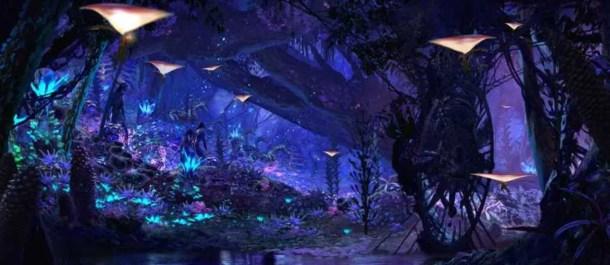 avatar pandora bosque luces