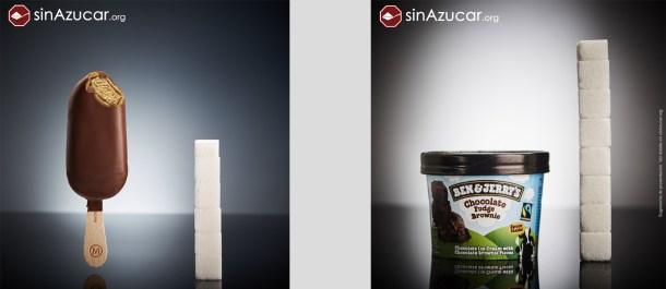 azucar en helados