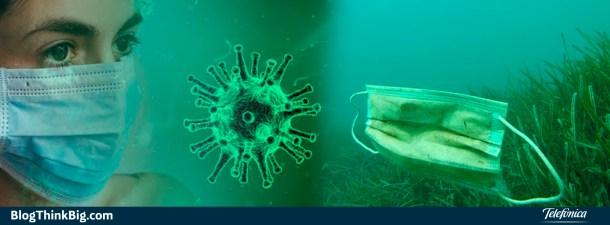 Mascarillas y guantes desechables, un problema para el planeta