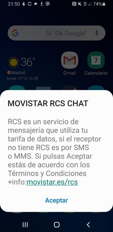 RCS chat Movistar
