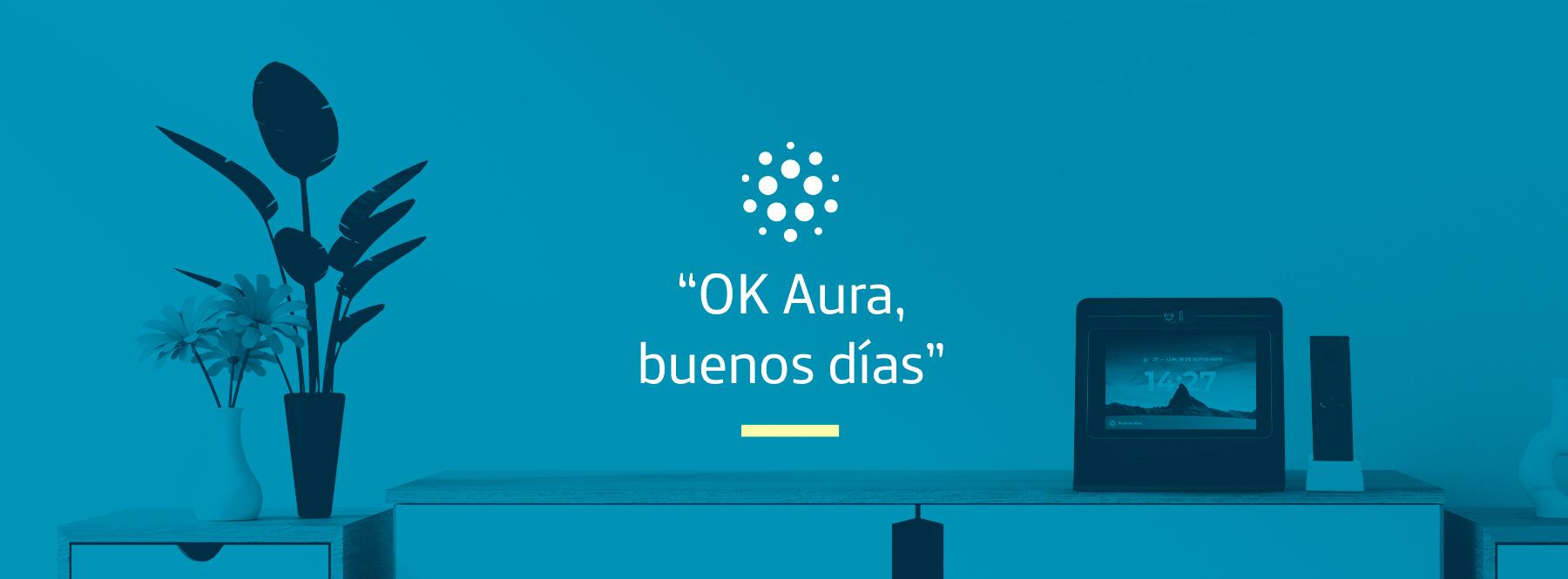 """""""OK Aura, buenos días"""": configura tus rutinas diarias a través de Movistar Home"""