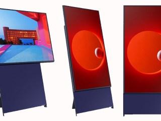 the sero samsung vertical tv