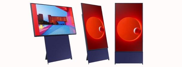 Samsung crea un televisor que gira para ver los vídeos, igual que un smartphone