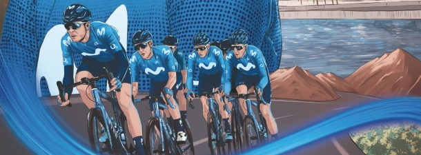 La Vuelta más ilustrada del Movistar Team