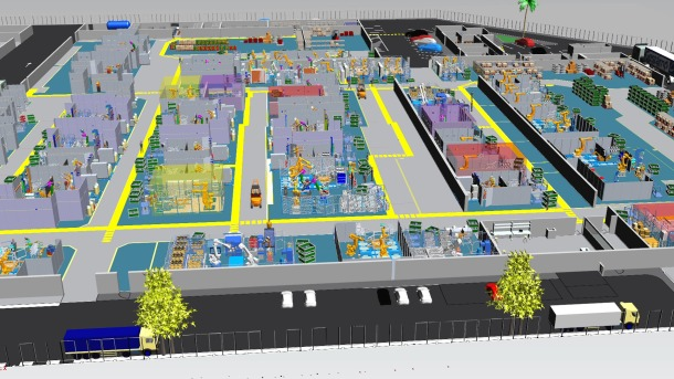Visualización 3D de una Smart Factory
