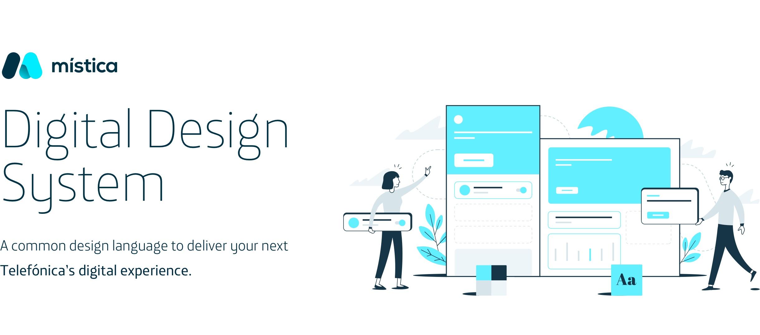 Mística, el sistema de diseño digital de Telefónica que usa componentes tecnológicos reutilizables
