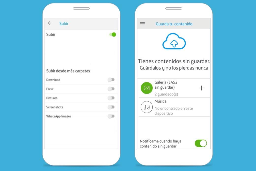 Almacenamiento en la nube - Pasar fotos - Movistar Cloud