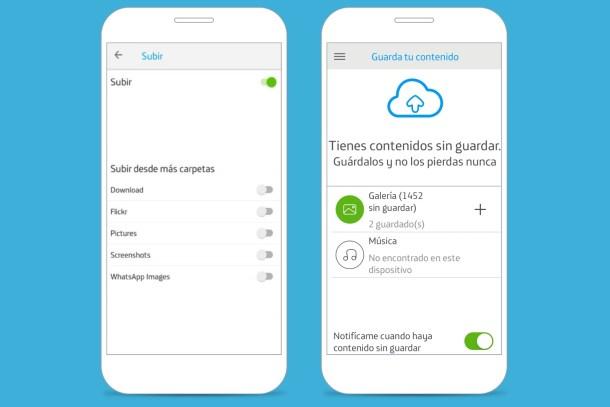 Cloud storage - Pass photos - Movistar Cloud