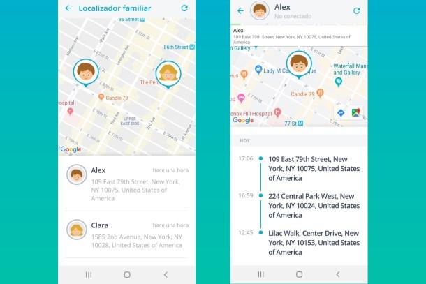 Qustodio - App para localizar el móvil de tus hijos - Ubicación actual de mis hijos