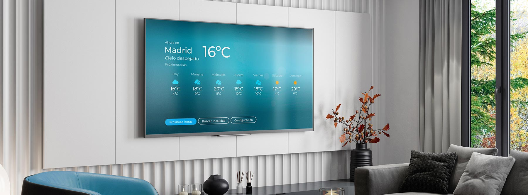 Living App de El Tiempo: consulta la previsión del tiempo de tu ciudad desde Movistar+