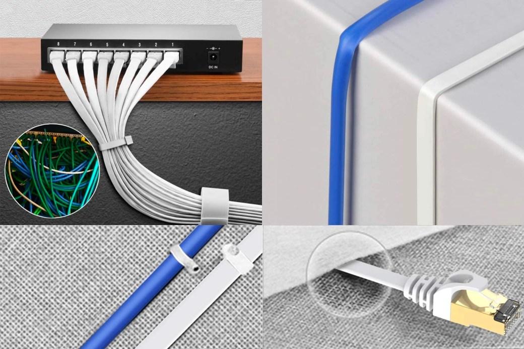 Cable de red + Cable Ethernet + Red doméstica