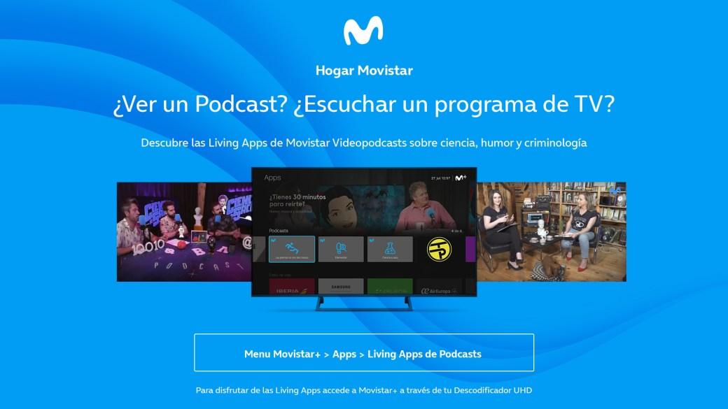Desde el menú de las Living Apps puedes acceder a los Movistar Videopodcasts