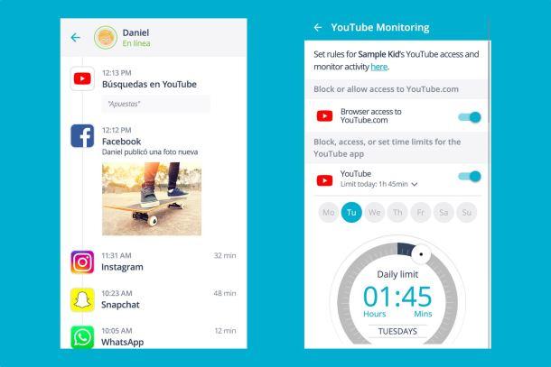 Control parental YouTube - Qustodio