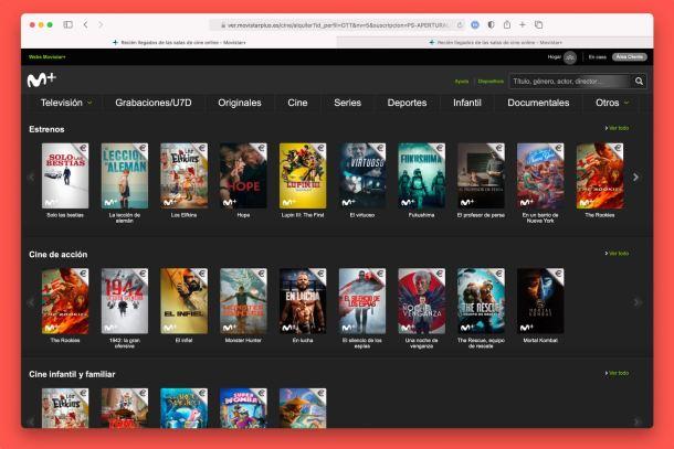 alquiler películas - Movistar Plus - Películas Movistar