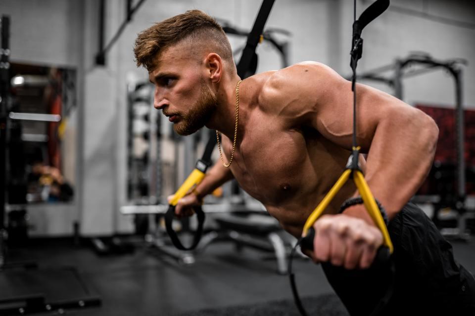 Ponerse en forma con ejercicios de TRX