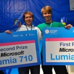 Enrique Mendoza y Tero De la Rosa ganadores del 24h Mobile Hackathon en la categoría de Windows Phone