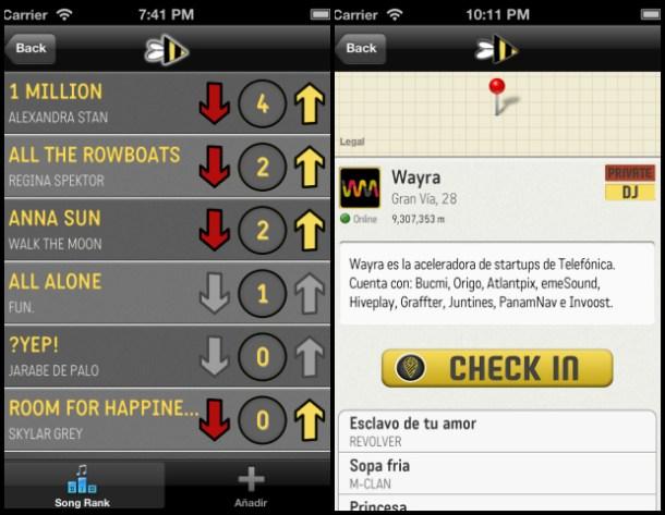 Hiveplay - capturas de pantalla - ranking y check in