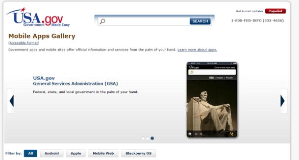 Mobile Apps Gallery - USA.gov