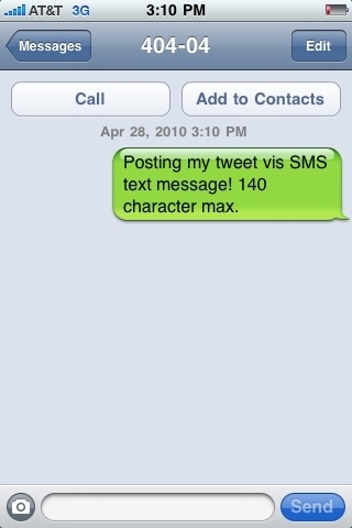 TWITTER CON SMS