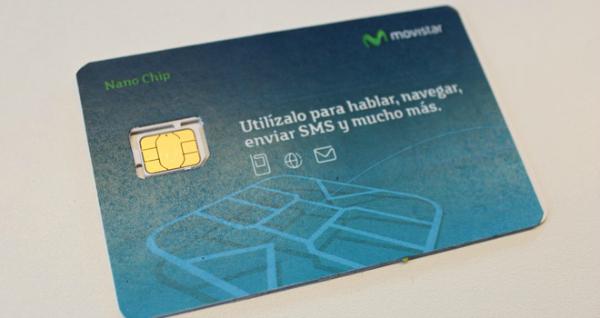 Tarjeta SIM Movistar con nanochip