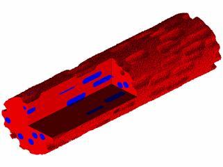Un modelo de polímero con fármacos introducidos