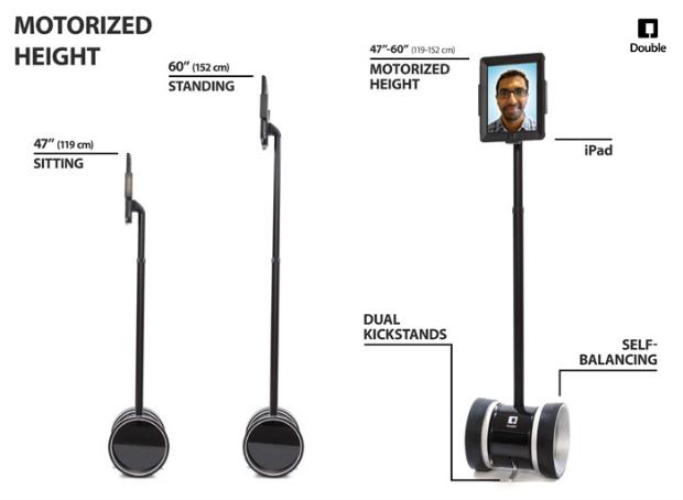 Double Robotics - robot de telepresencia de apariencia similar a Segway