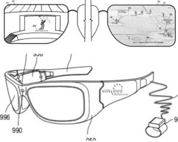 Microsoft patenta su propio proyecto al estilo Google glasses
