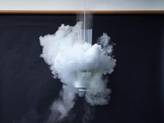 Recreando nubes dentro de casa