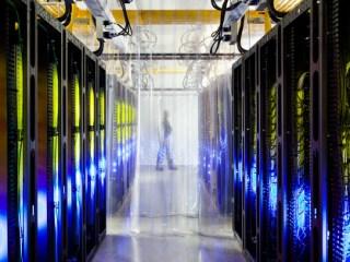 pasillo centro de datos Google