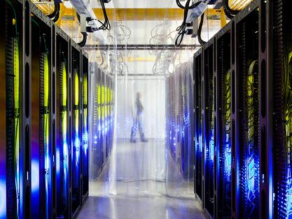 Dentro del centro de datos de Google