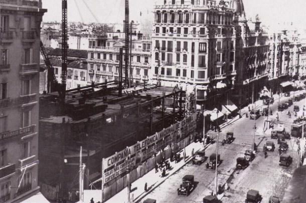 Construcción del edificio de Telefónica