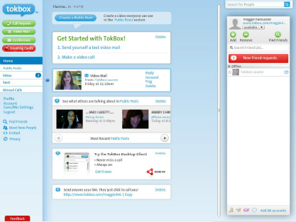 tokbox-screenshot: el videochat mola por Ian Small
