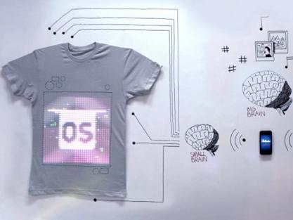 tshirt programables llegan a la moda